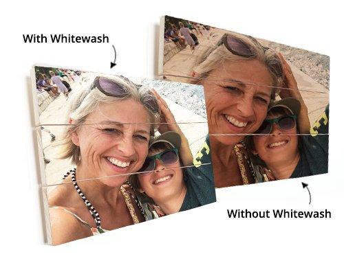 Photo on wood with whitewash
