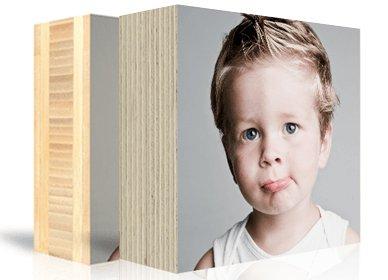 Photo on wooden block